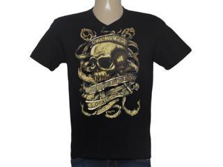 Camiseta Masculina Cavalera Clothing 01.01.8552 Preto - Tamanho Médio