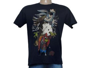 Camiseta Masculina Cavalera Clothing 01.01.8512 Marinho - Tamanho Médio