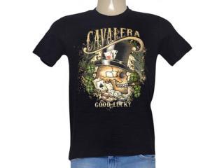Camiseta Masculina Cavalera Clothing 01.01.8897 Preto - Tamanho Médio