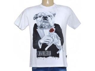 Camiseta Masculina Cavalera Clothing 01.01.8941 Branco - Tamanho Médio