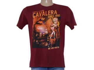 Camiseta Masculina Cavalera Clothing 01.01.8902 Vermelho - Tamanho Médio