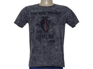 Camiseta Masculina Cavalera Clothing 01.20.0259 Grafite - Tamanho Médio