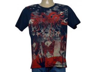 Camiseta Masculina Cavalera Clothing 01.01.9965 Azul Petróleo - Tamanho Médio