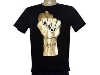 Camiseta Masculina Cavalera Clothing 01.20.0111 Preto/dourado - Tamanho Médio