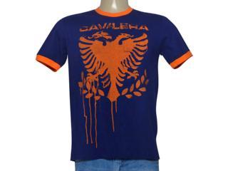Camiseta Masculina Cavalera Clothing 01.01.9190 Marinho - Tamanho Médio