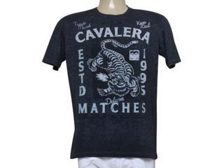 Camiseta Masculina Cavalera Clothing 01.01.9450 Preto - Tamanho Médio