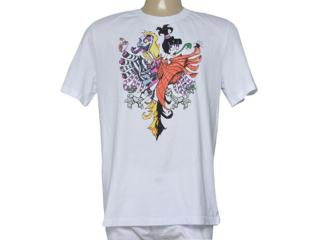 Camiseta Masculina Cavalera Clothing 01.01.9428 Branco - Tamanho Médio