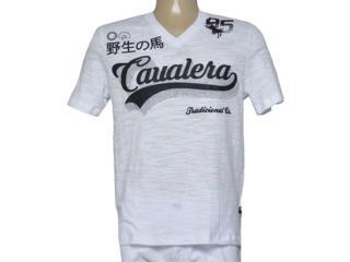 Camiseta Masculina Cavalera Clothing 01.01.9506 Branco - Tamanho Médio