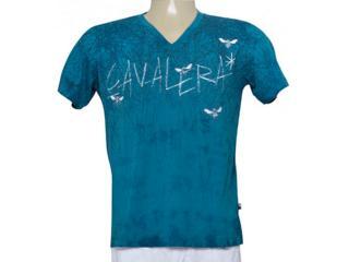 Camiseta Masculina Cavalera Clothing 01.01.9274 Azul Petróleo - Tamanho Médio