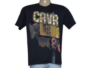 Camiseta Masculina Cavalera Clothing 01.01.9182 Preto Estampado - Tamanho Médio