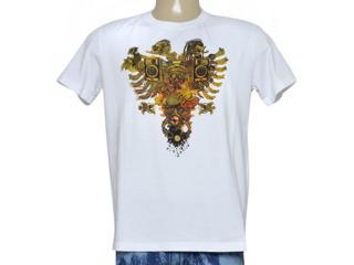 Camiseta Masculina Cavalera Clothing 01.01.9117 Branco Estampado - Tamanho Médio