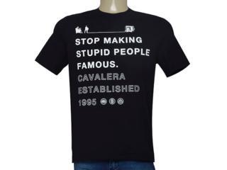 Camiseta Masculina Cavalera Clothing 01.01.9375 Preto - Tamanho Médio