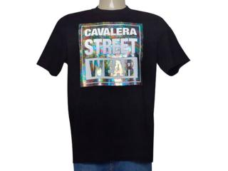 Camiseta Masculina Cavalera Clothing 01.01.9605 Preto - Tamanho Médio