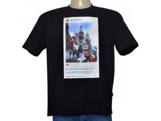 Camiseta Masculina Cavalera Clothing 01.01.9562 Preto - Tamanho Médio