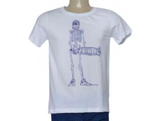 Masculina Camiseta Cavalera Clothing 01.01.9725 Branco - Tamanho Médio