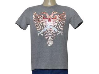 Masculina Camiseta Cavalera Clothing 01.01.9840 Mescla - Tamanho Médio