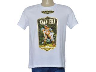 Masculina Camiseta Cavalera Clothing 01.01.9731 Branco - Tamanho Médio