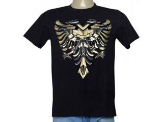 Masculina Camiseta Cavalera Clothing 01.01.9733 Preto - Tamanho Médio