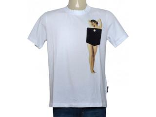 Masculina Camiseta Cavalera Clothing 01.01.9778 Branco - Tamanho Médio