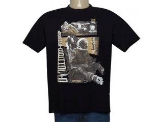 Masculina Camiseta Cavalera Clothing 01.01.9572 Preto - Tamanho Médio