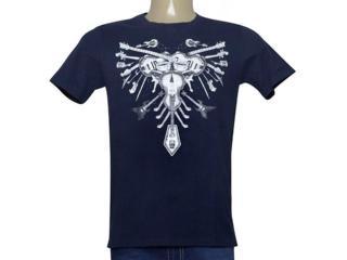 Camiseta Masculina Cavalera Clothing 01.01.9982 Azul Petróleo - Tamanho Médio