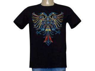 Camiseta Masculina Cavalera Clothing 01.01.9968 Preto - Tamanho Médio