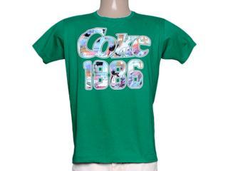 Camiseta Masculina Coca-cola Clothing 353204143 Verde Folha - Tamanho Médio