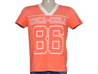 Camiseta Masculina Coca-cola Clothing 353204075 Laranja - Tamanho Médio