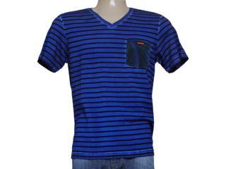 Camiseta Masculina Coca-cola Clothing 353203980 Listrado Azul/preto - Tamanho Médio