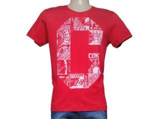 Camiseta Masculina Coca-cola Clothing 353204299 Vermelho - Tamanho Médio