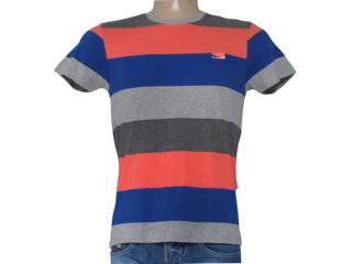 Camiseta Masculina Coca-cola Clothing 353204289 Mescla/azul/salmão - Tamanho Médio
