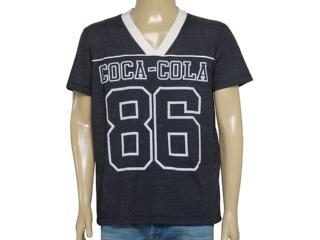 Camiseta Masculina Coca-cola Clothing 353204075 Preto - Tamanho Médio