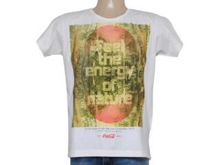 Camiseta Masculina Coca-cola Clothing 353204352 Off White - Tamanho Médio