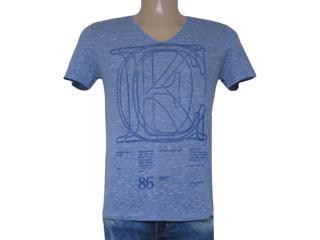 Camiseta Masculina Coca-cola Clothing 353203605 Azul Jeans - Tamanho Médio