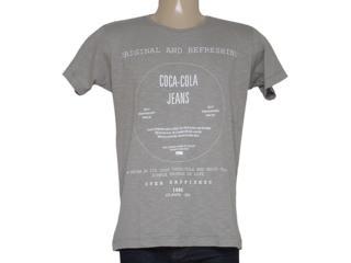 Camiseta Masculina Coca-cola Clothing 353204591 Cinza - Tamanho Médio