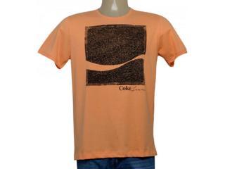 Camiseta Masculina Coca-cola Clothing 353205758 Laranja - Tamanho Médio