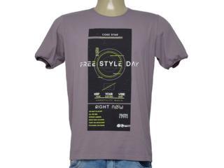 Camiseta Masculina Coca-cola Clothing 355200309 Lilas Escuro - Tamanho Médio