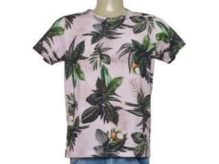 Camiseta Masculina Coca-cola Clothing 353206222 Vb1 Rosa Estampado - Tamanho Médio