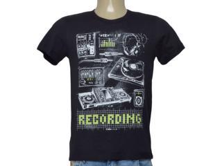 Camiseta Masculina Coca-cola Clothing 355200305 Preto Estampado - Tamanho Médio