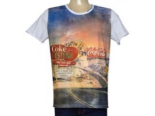 Camiseta Masculina Coca-cola Clothing 353205158 Branco Estampado - Tamanho Médio