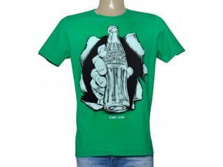 Camiseta Masculina Coca-cola Clothing 353205134 Verde - Tamanho Médio