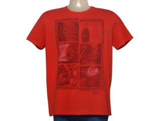 Camiseta Masculina Coca-cola Clothing 353205271 Vermelho - Tamanho Médio
