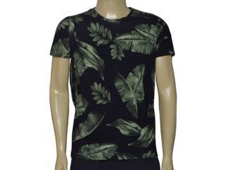 Camiseta Masculina Coca-cola Clothing 353205530 Var1 Preto Floral - Tamanho Médio