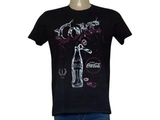 Camiseta Masculina Coca-cola Clothing 353205741 Preto - Tamanho Médio