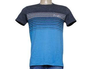 Camiseta Masculina Dopping 015253566 Grafite/azul - Tamanho Médio