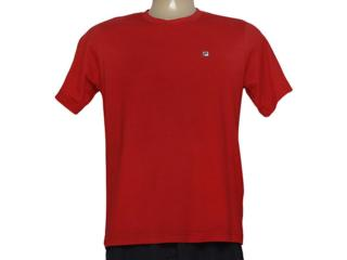 Camiseta Masculina Fila U101017 Classic F-box Vermelho - Tamanho Médio