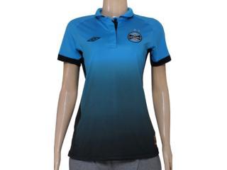 Camiseta Feminina 3g00012 Grêmio Oficial Iii Azul - Tamanho Médio