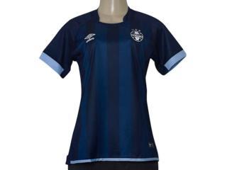Camiseta Feminina Grêmio 3g160269 Of3 2017/18 Marinho/azul - Tamanho Médio
