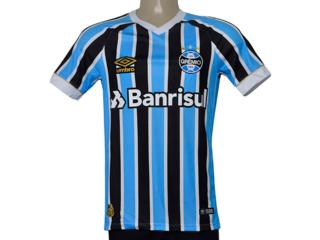 Camiseta Masculina Grêmio 3g160337 Of.1 2018 Fan Tricolor - Tamanho Médio