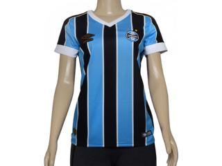Camiseta Feminina 3g160782 Grêmio Of.1 2019 Tricolor - Tamanho Médio